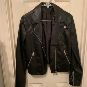 H&M Faux leather jacket never worn